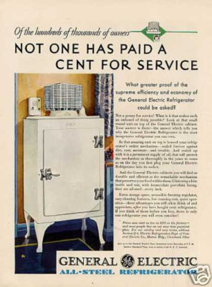 General Electric Refrigerator Color (1930)