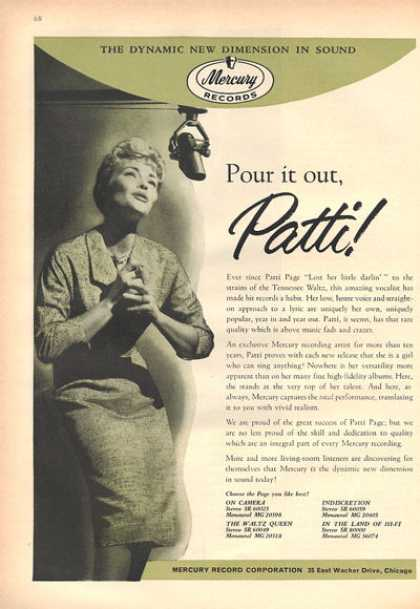 Mercury Records Patti Page (1959)