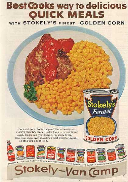 Stokely – Van Camp's Whole Kernal Golden Corn (1955)