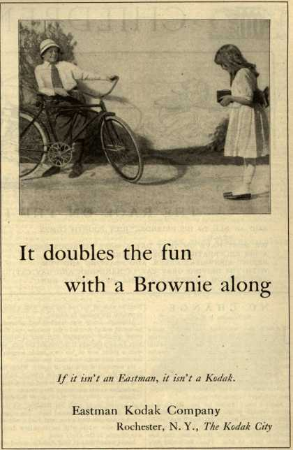 Kodak's Brownie cameras – It doubles the fun with a Brownie along (1920)