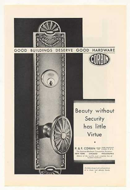 Corbin Hardware Door Knob Escutcheon (1930)