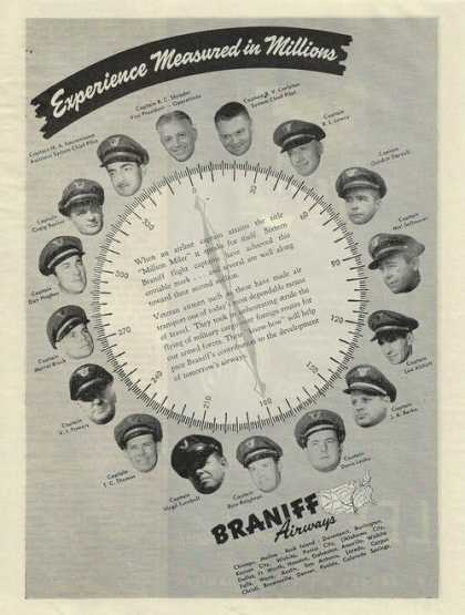 Braniff Airwys Measured In Millions Print (1943)