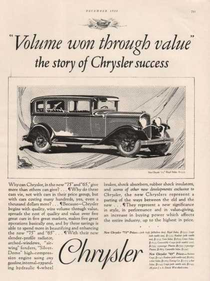 The Story of Chrysler Car Success (1928)