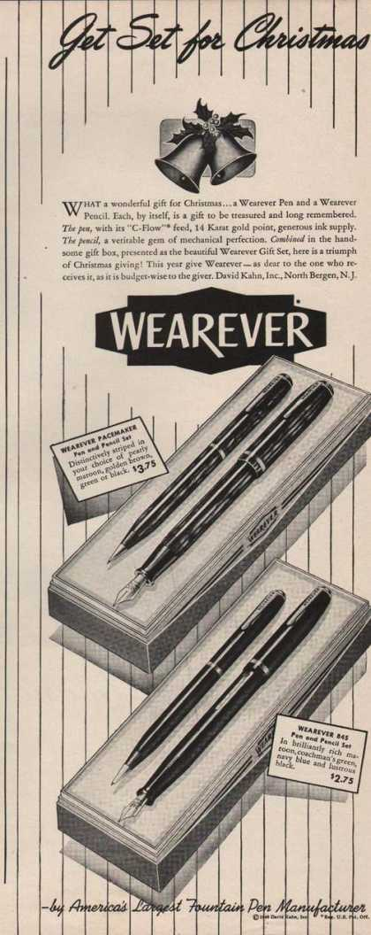 Wearever 845 & Pacemaker Pen & Pencil (1946)