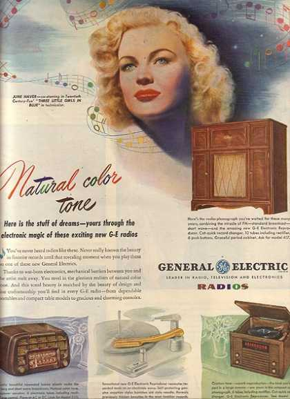 General Electric Radios – June Haver (1946)