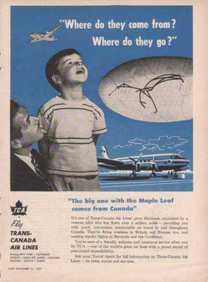 TCA Trans Canada Airlines – Where do they come from? – Sold (1951)