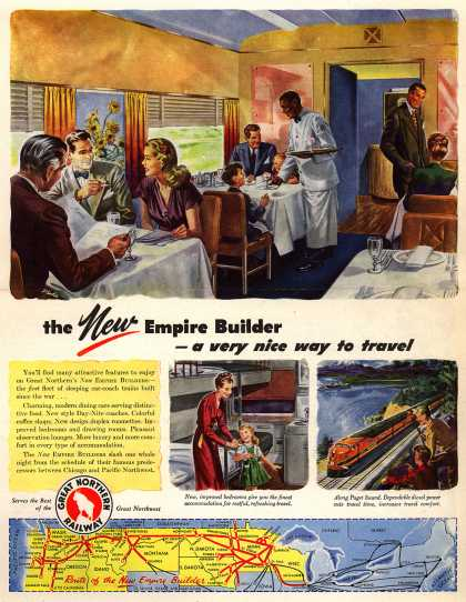 Great Northern Railway's New Empire Builders – the New Empire Builder – a very nice way to travel (1946)