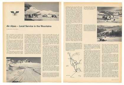 Air Alpes Airlines Service Mountains Photo Article (1966)