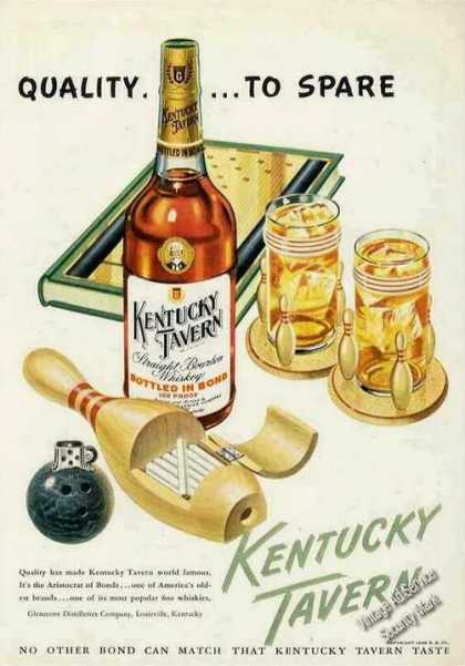 Kentucky Tavern Bowling Theme Qualityto Spare (1948)
