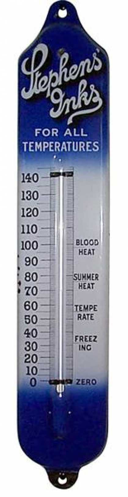 Stephen's Inks Thermometer Sign