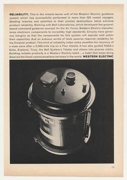 Western Electric Missile Guidance System Photo (1963)