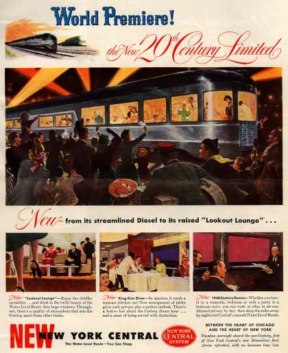 New York Central System's 20th Century Limited – World Premiere! the New 20th Century Limited (1948)