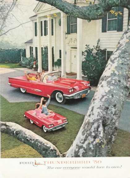Ford Thunderbird Convertible Ad Toy Pedal Car (1959)