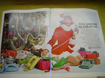 New York Telephone Rotary Phone Gift of Gab 2 pg (1968)