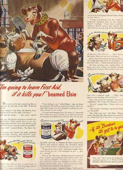 Borden's Condensed Milk, Evaporated Milk, Hemo, Cheeses and Ice Cream (1942)