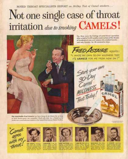 Camel's Cigarettes – Fred Astaire – Sold (1949)