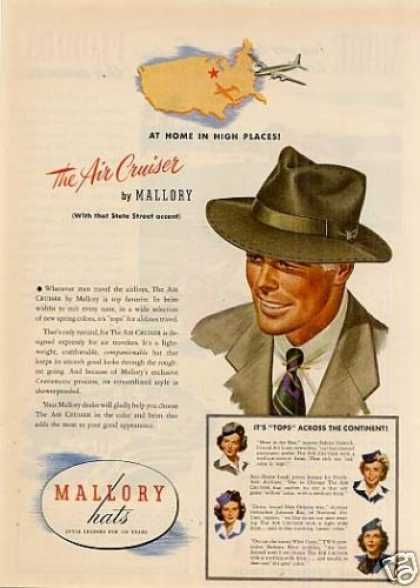 "Mallory ""Air Cruiser"" Hat (1947)"