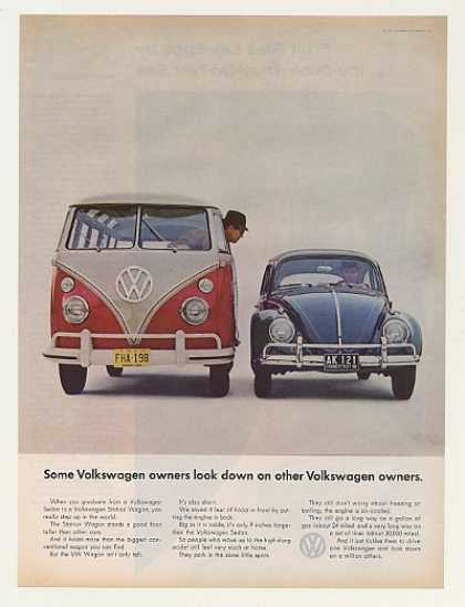 Volkswagen Station Wagon Look Down Sedan Beetle (1963)