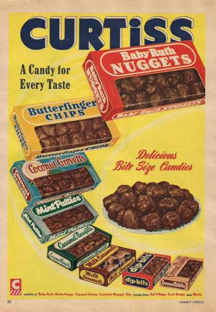 Curtiss Chocolate Candies (1953)