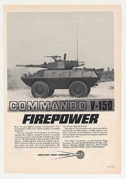 Cadillac Gage Commando V-150 Armored Vehicle (1980)