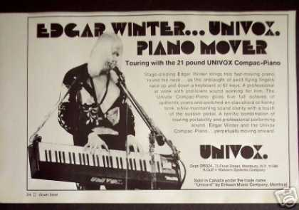 Edgar Winter Univox Compac-piano Photo (1974)