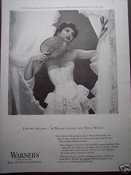 Pretty Girl In Warner's Bra Girdles Photo (1953)