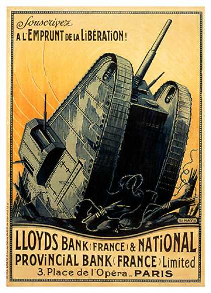 Lloyds Bank, French war poster