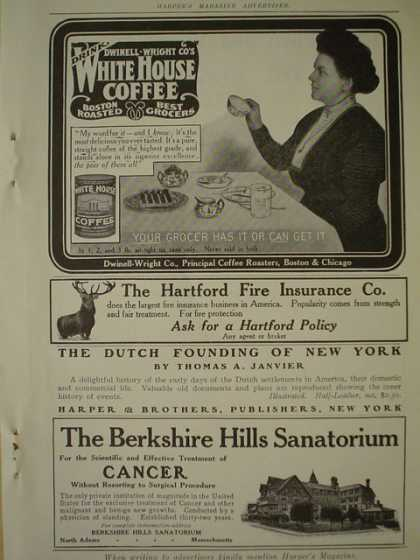 Dwinnel Wright's Co Whitehouse Coffee AND The Berkshire Hills Sanitorium (1910)