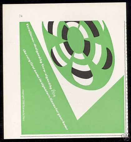 Vera Scarves Green White Black (1968)