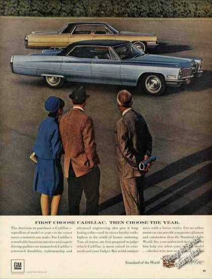 """First Choose Cadillac. Then Choose the Year"" (1967)"