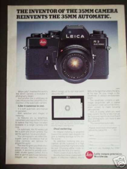 Leitz Leica R3 35mm Slr Film Camera (1977)