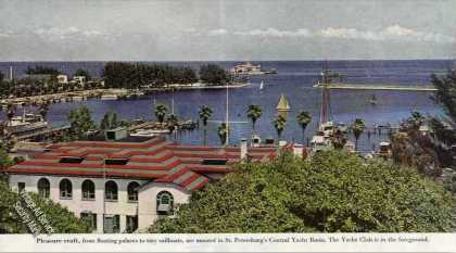 St. Petersburg Central Yacht Basin Magazine Photo (1948)