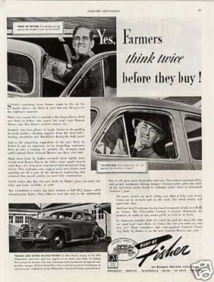 Body By Fisher Ad Oldsmobile Car (1940)