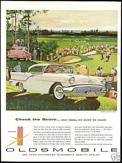 Oldsmobile Super 88 Holiday Golf Course Art (1957)
