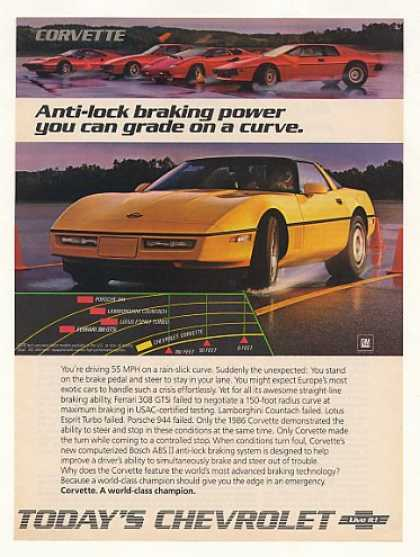 Chevy Corvette Anti-Lock Braking Power Photo (1986)