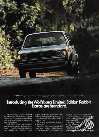 Vw Volkswagen Wolfsburg Limited Edition Rabbit (1983)