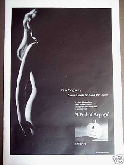 Pretty Girl Silhouette a Veil of Arpege Perfume (1967)