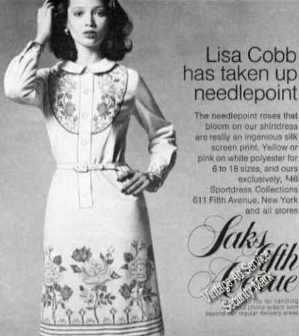 Lisa Cobb Has Taken Up Needlepoint Saks Fashion (1973)