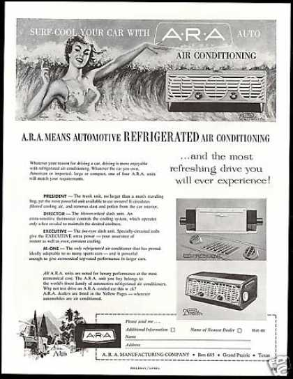 Car ARA Manufacturing Co Air Conditioning (1960)