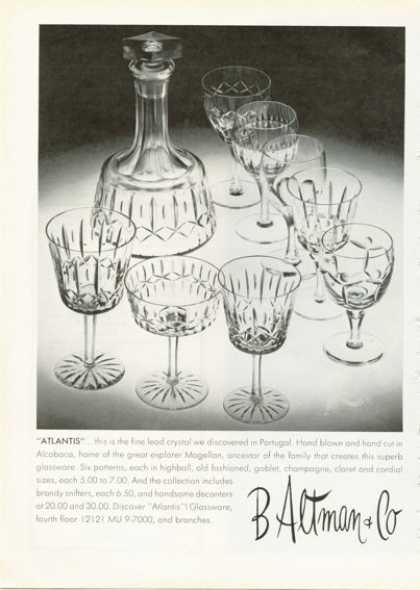 B Altman Hand Blown Lead Crystal (1972)