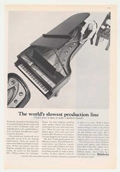 Baldwin Grand Piano World's Slowest Production (1965)