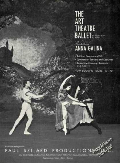 Anna Galina Photo Art Theatre Ballet Booking (1971)