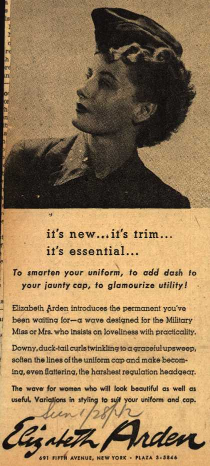 Elizabeth Arden's Permanent hair wave – it's new...it's trim...it's essential (1942)
