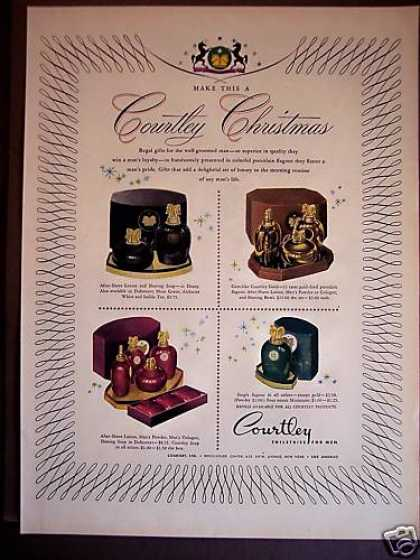 Courtley Toiletries for Men Cologne Soap X-mas (1946)