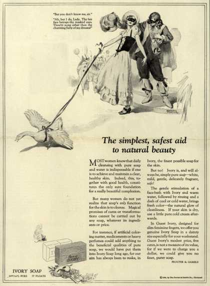 Procter & Gamble Co.'s Ivory Soap – The simplest, safest aid to natural beauty. (1924)