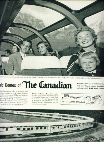The Canadian 2 Page Not Joined Ad Scenic Domes (1956)