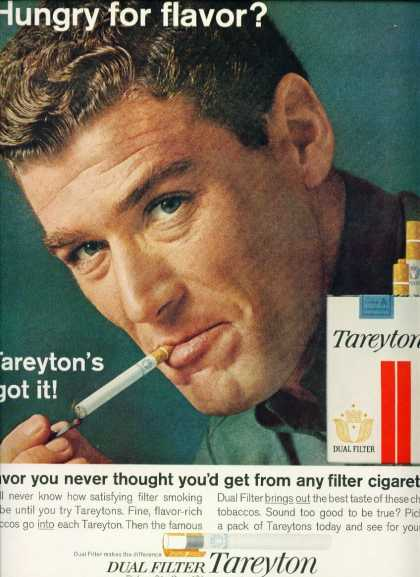 Tareyton Filter Cigarettes Hunky Man Smoking C (1960)