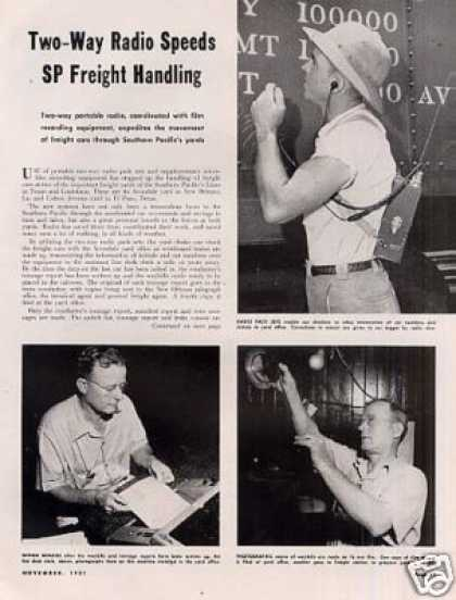 """Two-way Radio Speeds Sp Freight Handling"" Article (1951)"