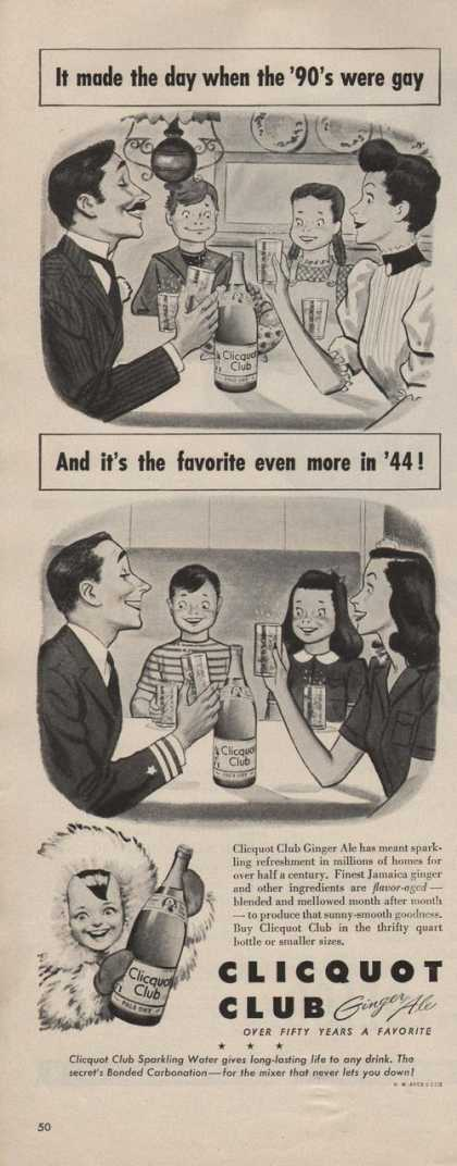 Clicquot Club Ginger Ale Soda (1942)