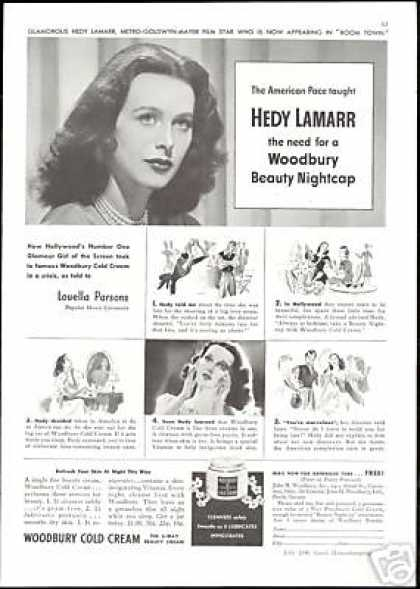Hedy Lamarr Photo Woodbury Cold Cream (1940)